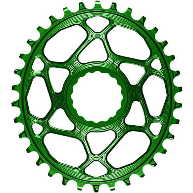 Absolute Black Oval Narrow-Wide Direct Mount Chainring - CINCH Direct Mount, 3mm Offset, Colored