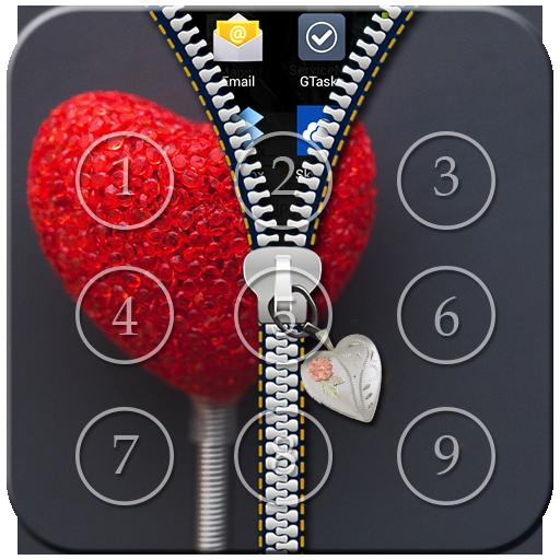 Heart Passcode Zipper Lock