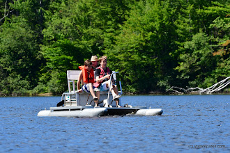 Photo: Great day for a paddle boat ride on Spectacle Pond at Brighton State Park by Bill Steele