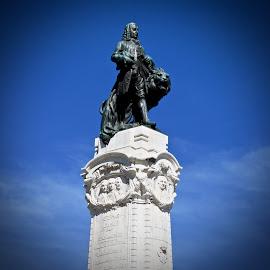 The Marquis de Pombal by Michael Villecco - Buildings & Architecture Statues & Monuments ( statue, marquis, monument, lisbon, portugal,  )