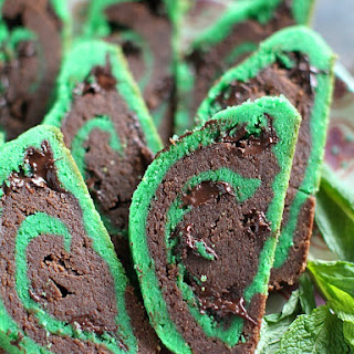 St. Patrick's Day Mint Chocolate Chip Cookies.