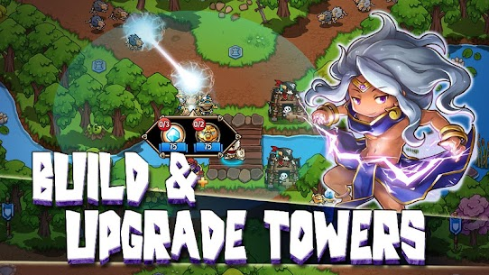 Crazy Defense Heroes Tower Defense Strategy TD 1.9.4 MOD (Unlimited Energy + Gold Coins + Diamonds) 3