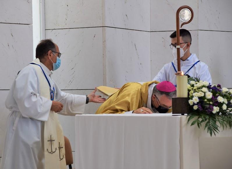 Inicio de la eucaristía.