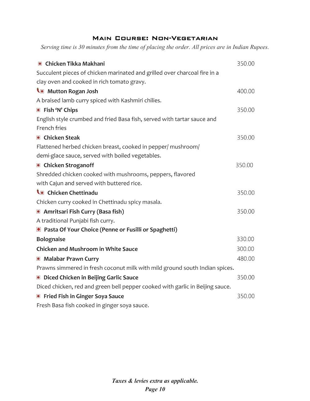Cafe @ Elanza menu 3