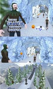 Subway Skater Mountain Surfer screenshot 1