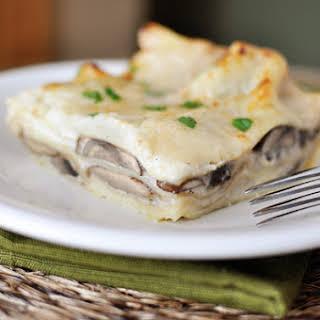 Mushroom Lasagna with White Sauce.