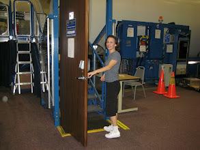 Photo: Entering the Payload Development Laboratory (PDL) simulators