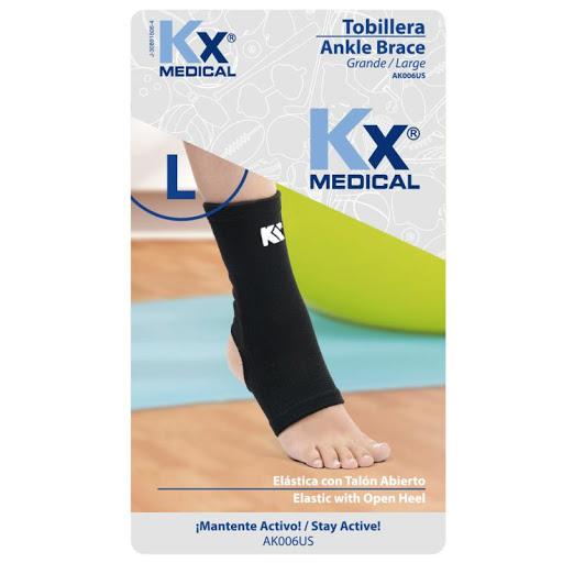 Tobillera Elastica KX 2 Vias sin talon L Producto elaborado con poliéster. ¡Conoce la amplia línea de productos en soporte terapéutico que KX Medical trae para ti!