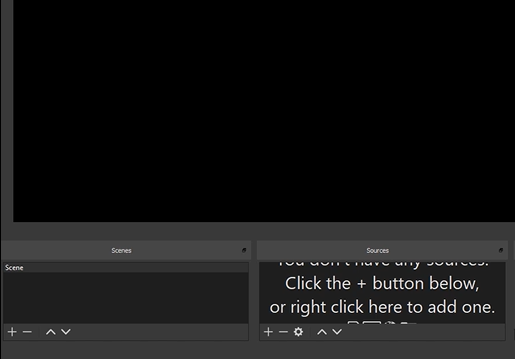 """Go to the """"Sources"""" box located in the OBS dashboard at the bottom of your screen"""