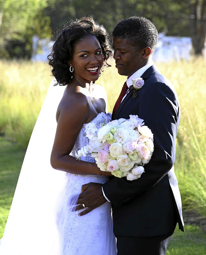 Rosette and Lunga Ncwana's wedding at Boschendal Wine Estate in Franchoek in 2015./ ESA ALEXANDER