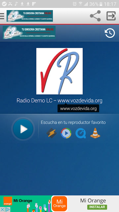 VVRadio- screenshot