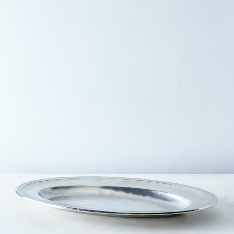 Large Oval Pewter Serving Platter