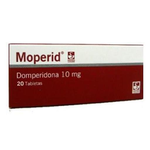 Domperidona Moperid 10mg x 20 Tabletas