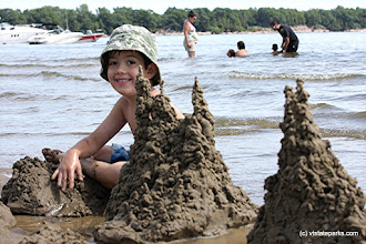 Photo: Sand castles, waves, and fun at Alburg Dunes State Park by Raven Schwan-Noble