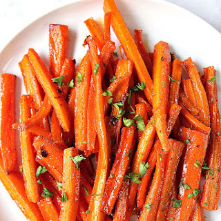 Brown Sugar Roasted Carrots.