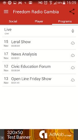 android Freedom Radio Gambia Screenshot 2