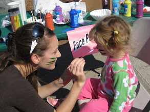 Photo: Being facepainted