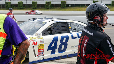 Photo: We're on Pocono Raceway pit road for Sprint Cup Qualifying. Pretty cool!https://plus.google.com/+JimmieJohnson