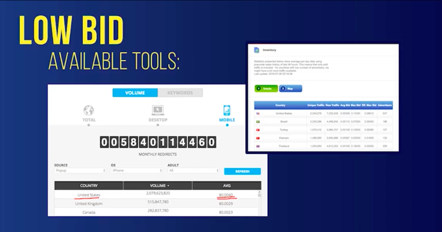 low bid available tools