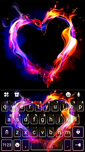 Flaming Heart Keyboard Theme screenshot 1