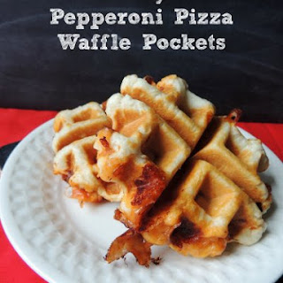 Easy Pepperoni Pizza Waffle Pockets