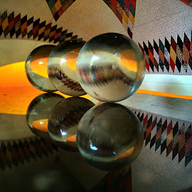 Glass spheres by Janette Ho - Abstract Patterns