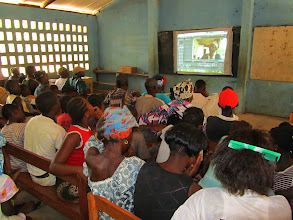 Photo: Community Video projection, Sierra Leone