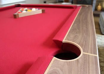 Handmade Pool Table with Oak Inlay