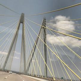 A Bridge by Sandra Barnes - Novices Only Landscapes ( outdoor, bridge, landscape, architecture )