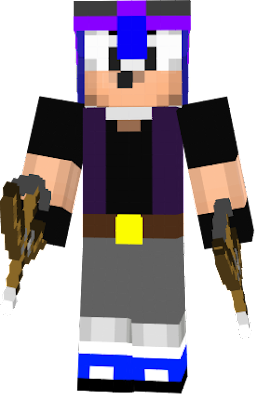 I added sunglasses and black shirt to this skin to make it look better.