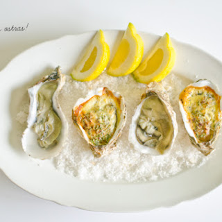 Oysters Au Naturale and Gratin Oysters.
