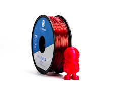 Translucent Red MH Build Series PETG Filament - 3.00mm (1kg)