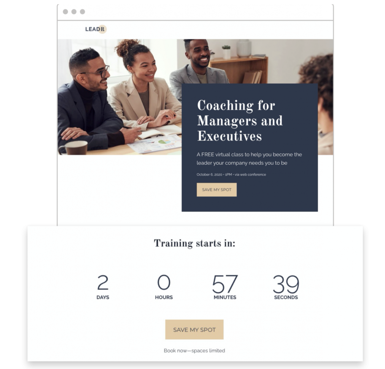 Leadpages countdown timers