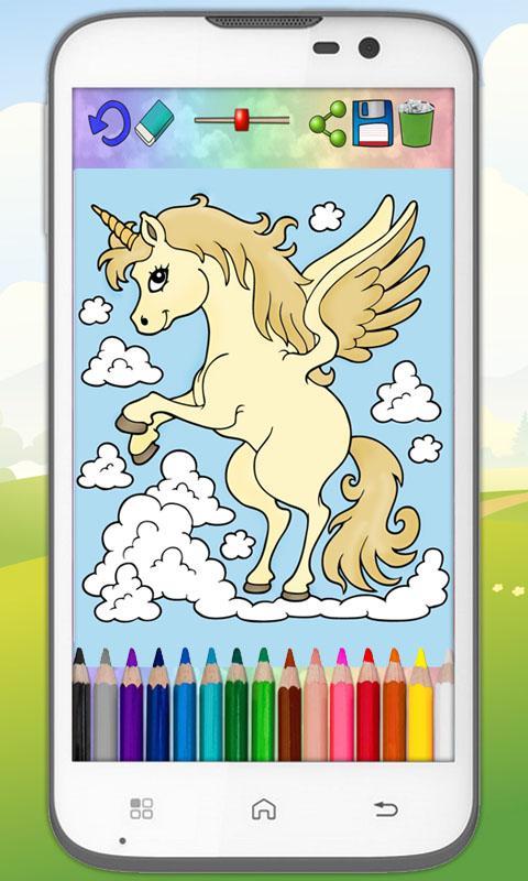 Unicorns And Ponies To Paint Screenshot
