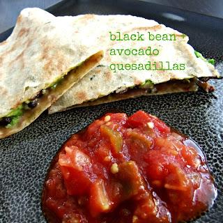 Black Bean and Avocado Quesadilla – #glutenfree #vegan