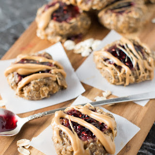 Raspberry Thumbprint Breakfast Cookies
