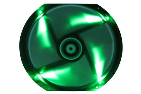 Bitfenix vifte m/grønn LED, Spectre, 230x30