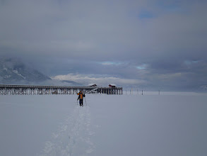 Photo: Skiing to the wharf  - Winter 08