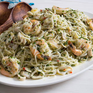 Italian Seafood-Salad Pasta Salad With Vietnamese Noodles