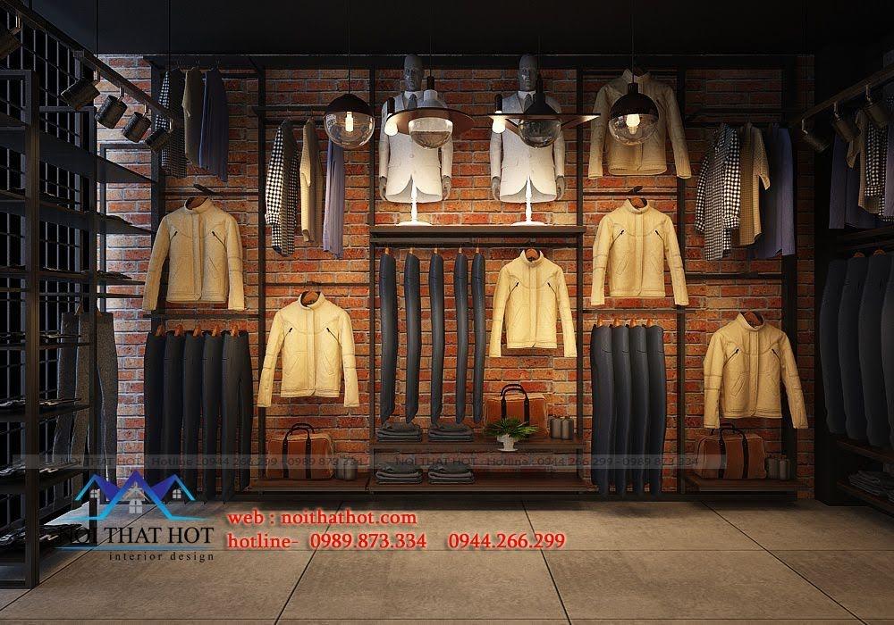 thiết kế shop thời trang nam H2T 6