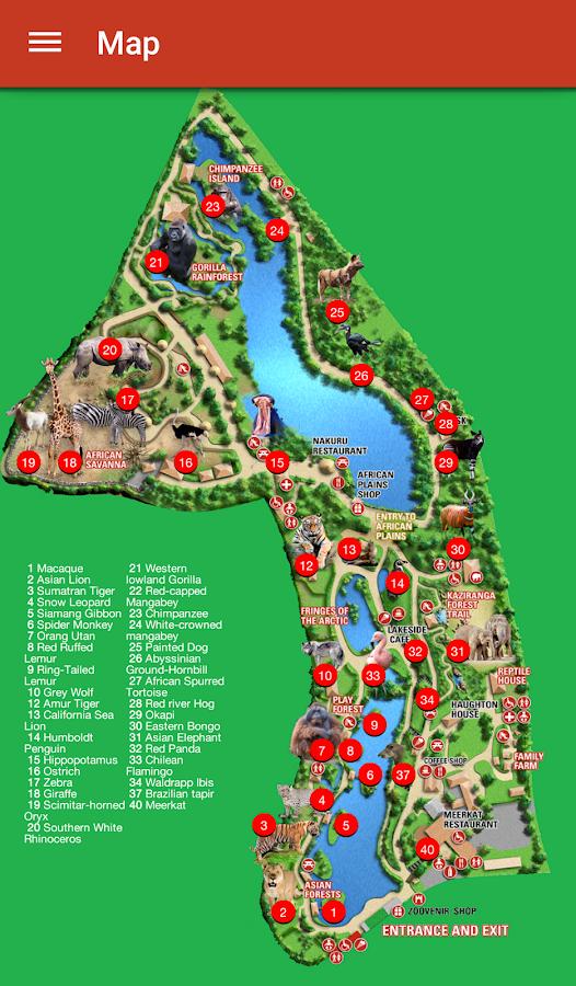 map to dublin zoo