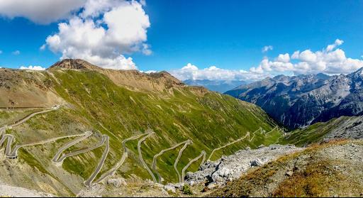stelvio, col, moto, voyage, route , tyrol, autriche , Italie, lac