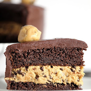 Double Chocolate Peanut Butter Chocolate Chip Cookie Dough Cake
