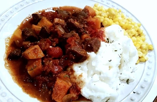 I served mine along side of creamy mashed potatoes.   Could be served with rice...