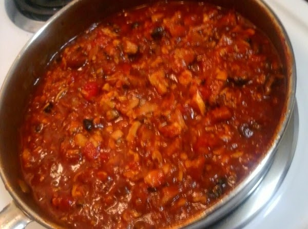 After your sauce has developed a nice base and is thickening, (should be about...
