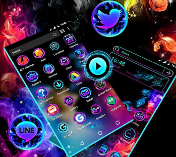 Smoke Colors Launcher Theme - náhled