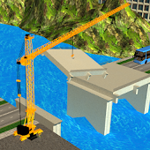 River Bridge Road Construction Crane Simulator