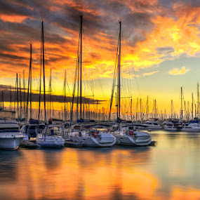 Sunrise  by Dom Del - Transportation Boats