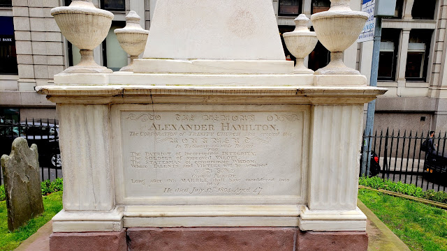 Alexander Hamilton's grave at Trinity Church Cemetery