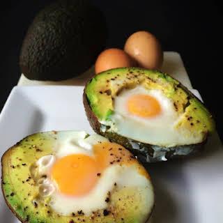 Creamy Avocado & Egg Breakfast.
